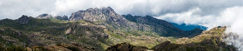 Vue panoramique du parc national d'Itatiaia image libre de droits