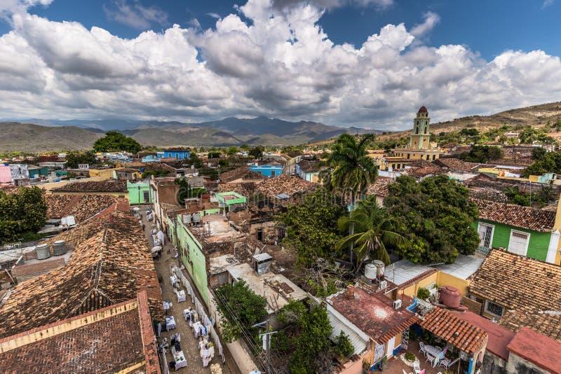 Vue panoramique du Trinidad, Cuba images libres de droits