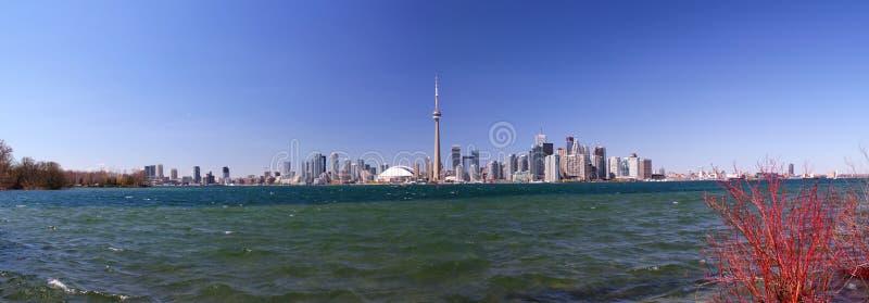 Vue panoramique : Horizon de Toronto/d'Ontario/du Canada photographie stock