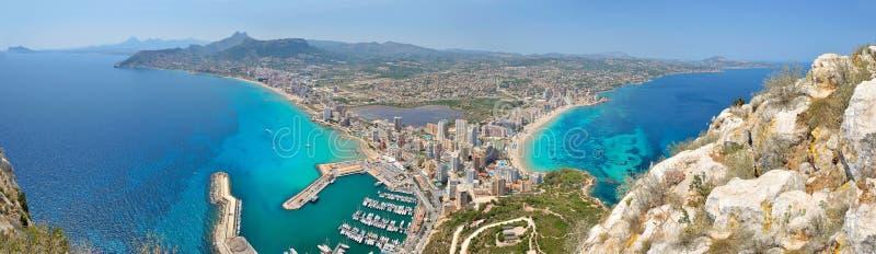 vue panoramique méditerranéenne de ville photos stock