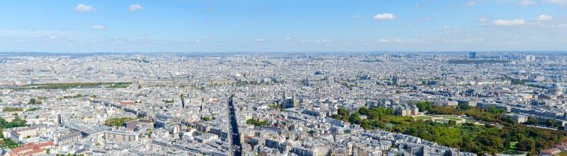Vue panoramique scénique à partir de dessus vers Paris, France photo libre de droits