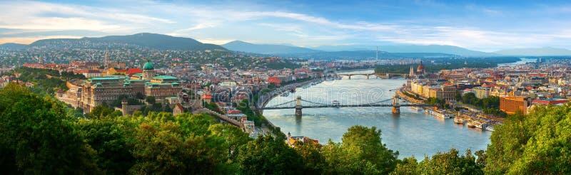Vue panoramique sur Budapest photo libre de droits