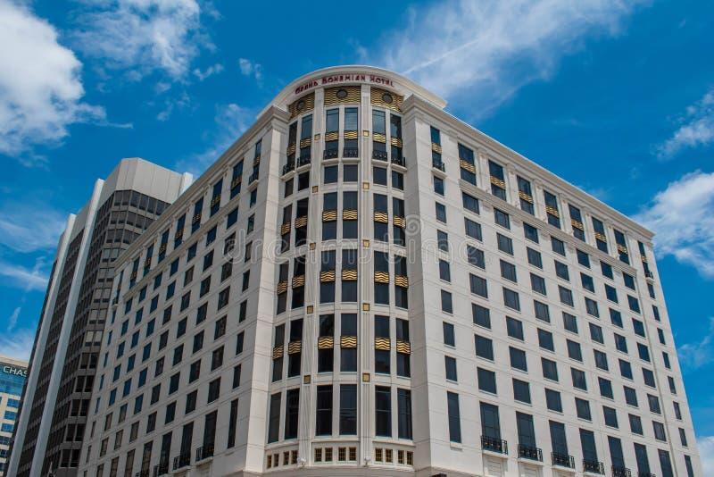 Vue panoramique sur le Grand Bohemian Hotel au centre-ville 42 photos stock