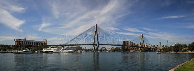 Vue panoramique sur le port Jackson Sydney, Nouvelle-Galles du Sud, Australie de port de Sydney photographie stock libre de droits