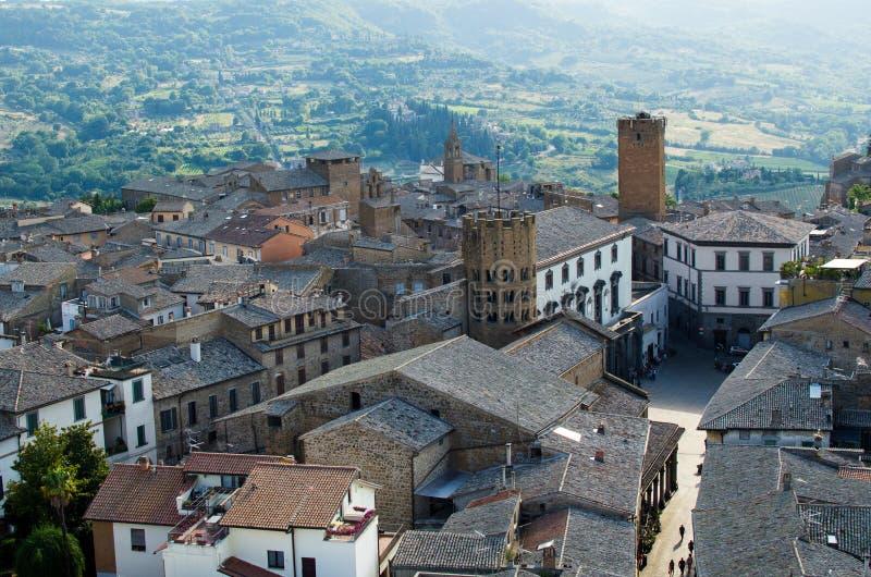 Vue panoramique sur Orvieto, Italie images stock