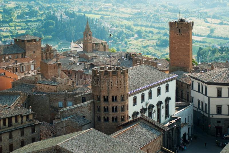 Vue panoramique sur Orvieto, Italie photographie stock libre de droits
