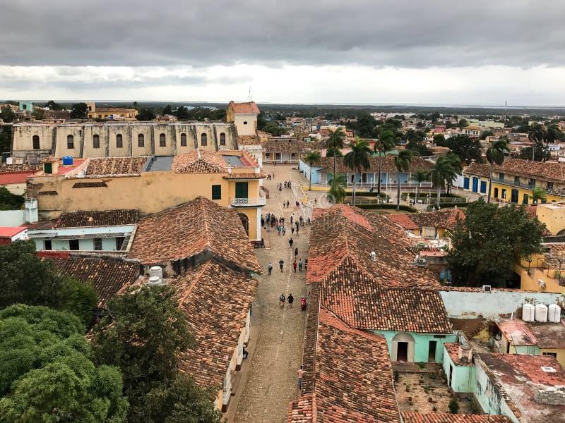 Vue panoramique - Trinidad, Cuba photo libre de droits