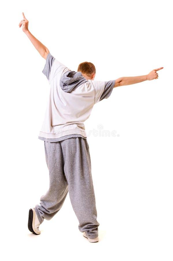 Vue par derrière sur le danseur photos libres de droits