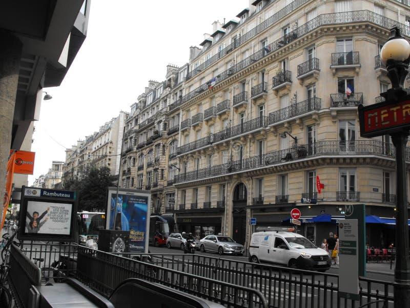 Vue Paris de rue photo stock