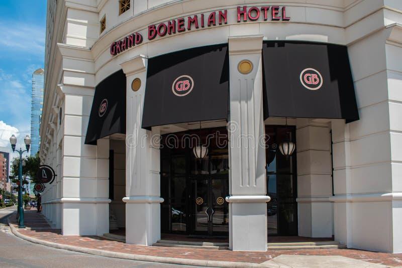 Vue partielle du Grand Bohemian Hotel sur Orange Ave. au centre-ville 30 image stock