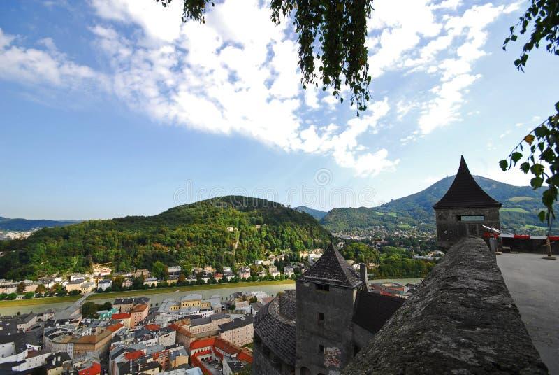 Vue pittoresque de Salzbourg photo stock