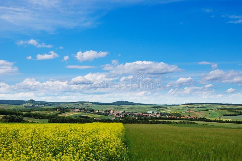 Vue pittoresque de zone accidentée de campagne