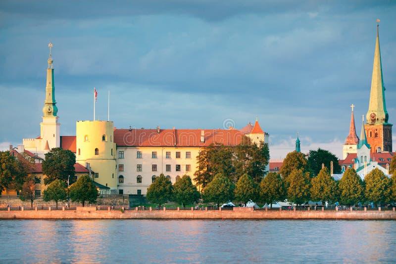 Vue pittoresque du château de Riga, Lettonie photo libre de droits