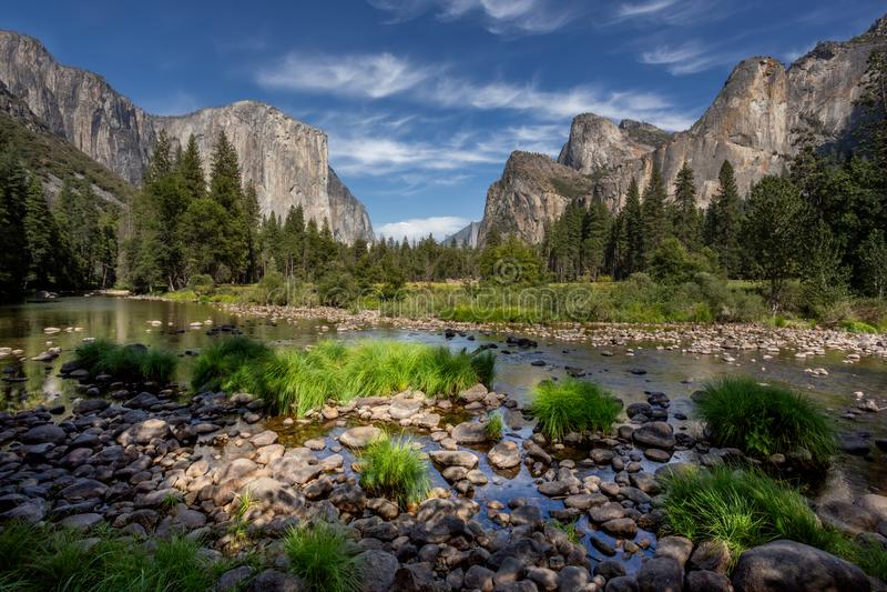 Vue portaile d'EL, parc national de Yosemite photographie stock libre de droits