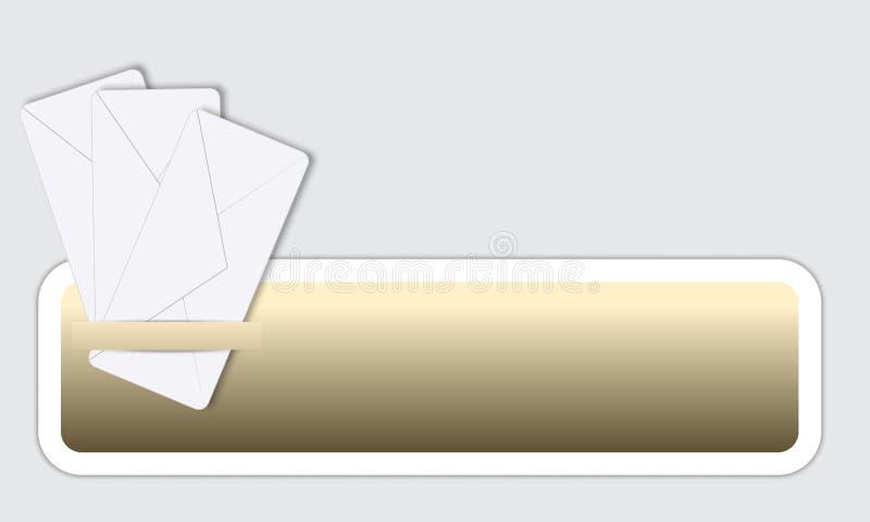 Vue pour le texte illustration de vecteur
