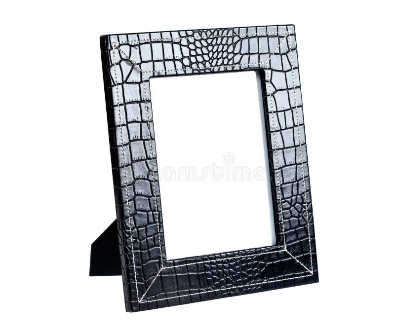 Vue pour une photo d'un cuir noir images stock