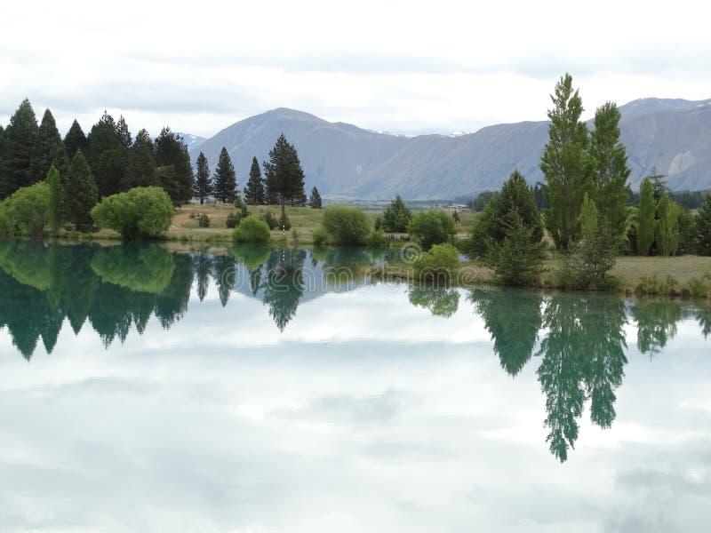 Vue renversante de paysage du paysage du Nouvelle-Zélande photos libres de droits