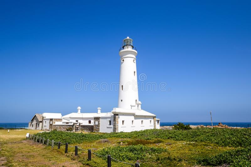 Vue renversante de phare de point de joint dans le cap province de St Francis, le Cap-Oriental, Afrique du Sud photographie stock