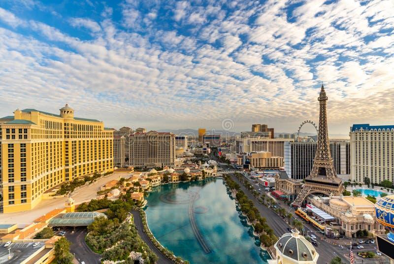 Vue a?rienne de bande de Las Vegas image libre de droits