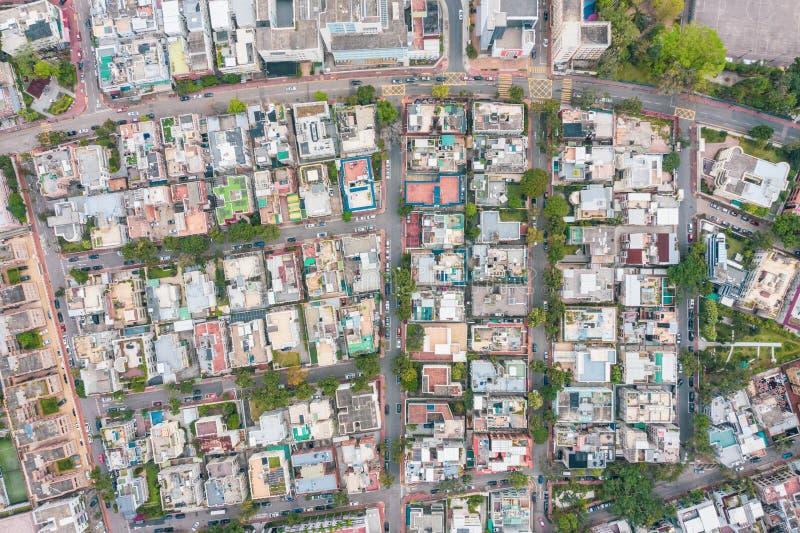 Vue a?rienne de Kowloon, Hong Kong photos stock