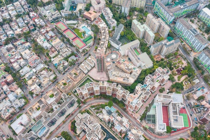 Vue a?rienne de Kowloon, Hong Kong photos libres de droits
