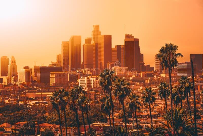 Vue a?rienne de Los Angeles du centre images libres de droits