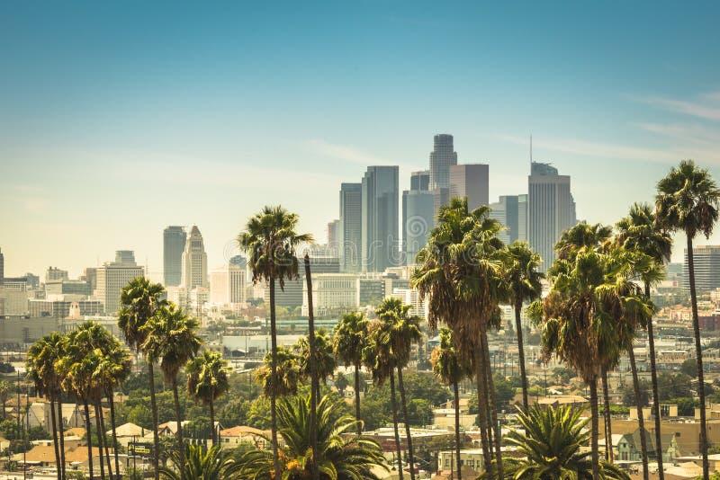 Vue a?rienne de Los Angeles du centre photo libre de droits