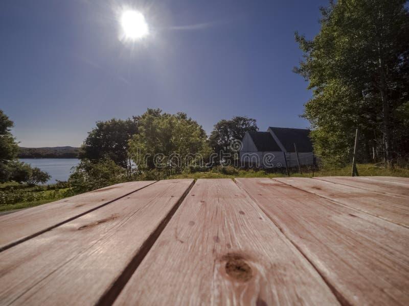 Vue a?rienne de mer, de fjords et de c?te rocheuse fantastique photographie stock libre de droits