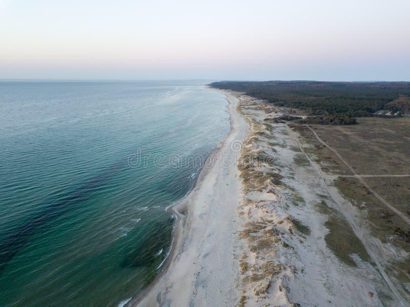 Vue a?rienne de plage de Melby, Danemark images libres de droits