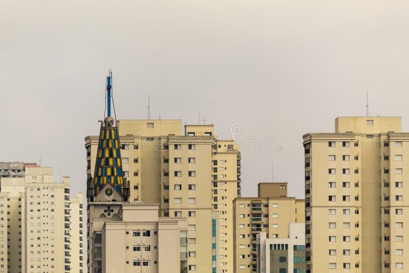 Vue a?rienne de Sao Paulo, Br?sil photographie stock libre de droits