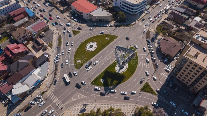 Vue a?rienne de ville de Krasnodar, F?d?ration de Russie, 2019 photos stock