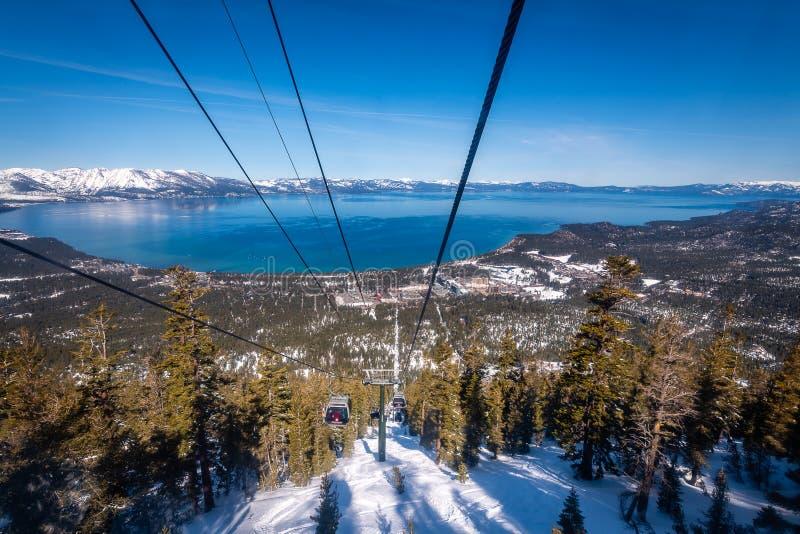 Vue a?rienne du lac Tahoe du sud images stock