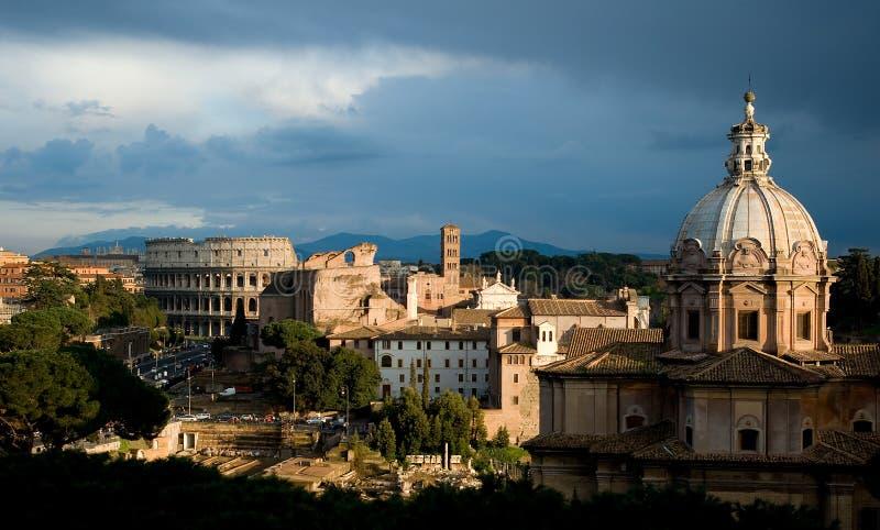 vue romaine de panorama image libre de droits
