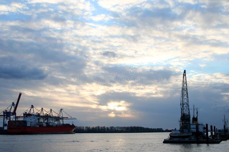 Vue romantique le port - serie photographie stock libre de droits
