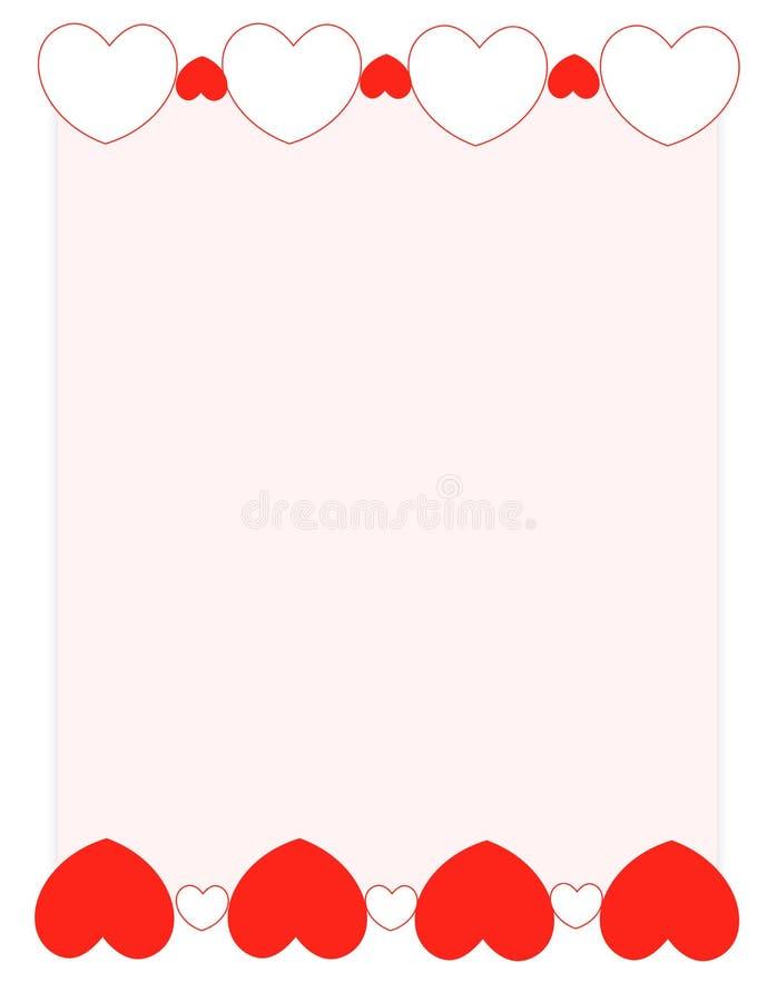 Vue rouge de fond du jour de valentine de coeurs photos libres de droits