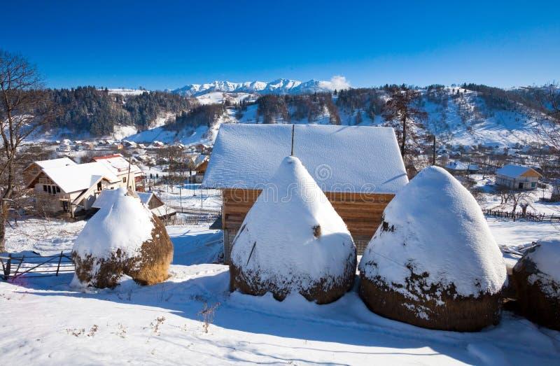 Vue scénique d'hiver typique de château de son images libres de droits