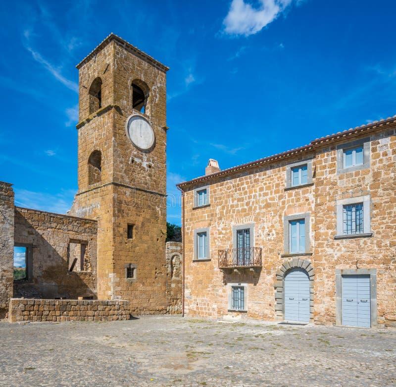 Vue scénique dans Celleno, province de Viterbe, Latium, Italie centrale photos libres de droits