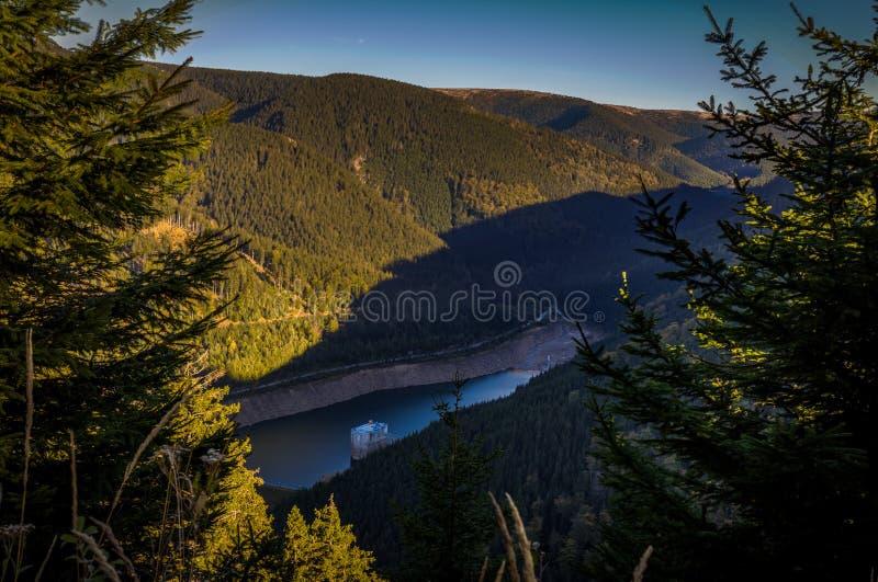 Vue scénique de Horni au nadrz de Dolni dans le strane de Dlouhe photo stock