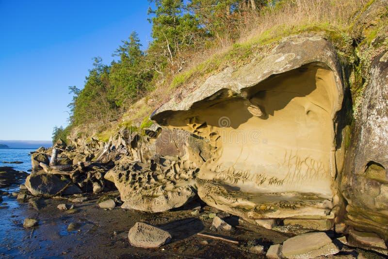 Vue scénique de l'océan donnant sur la baie de Nanaimo dans Vanco images libres de droits