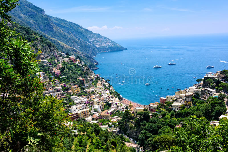 Vue scénique de littoral d'Amalfi photo stock