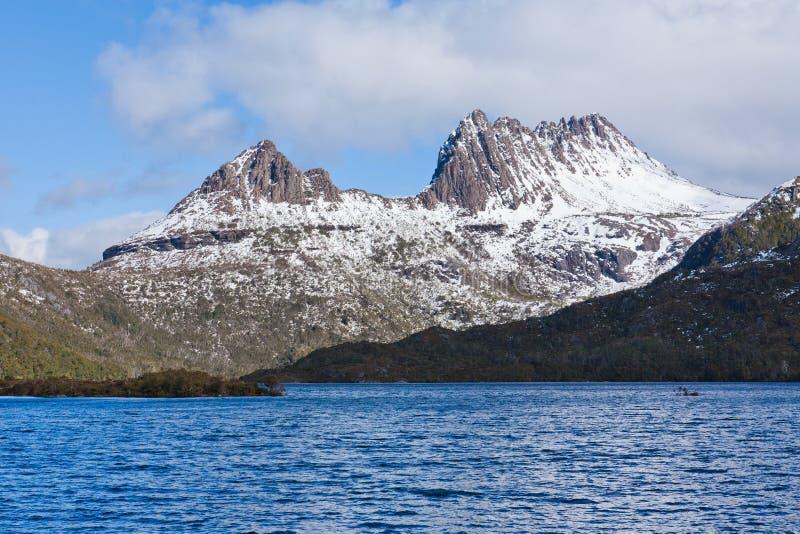 Vue scénique de montagne de berceau, Tasmanie photo libre de droits