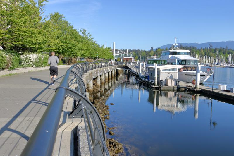 Vue scénique de port de Vancouver images libres de droits