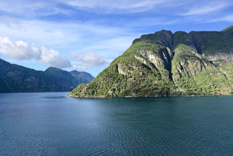 Vue scénique de Storfjord (Norvège) photos libres de droits