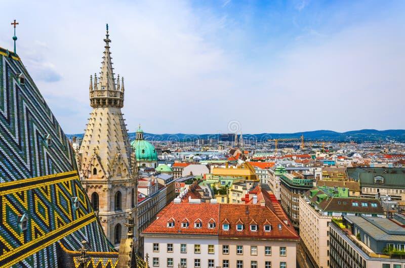 Vue scénique de vieille ville de Vienne image libre de droits