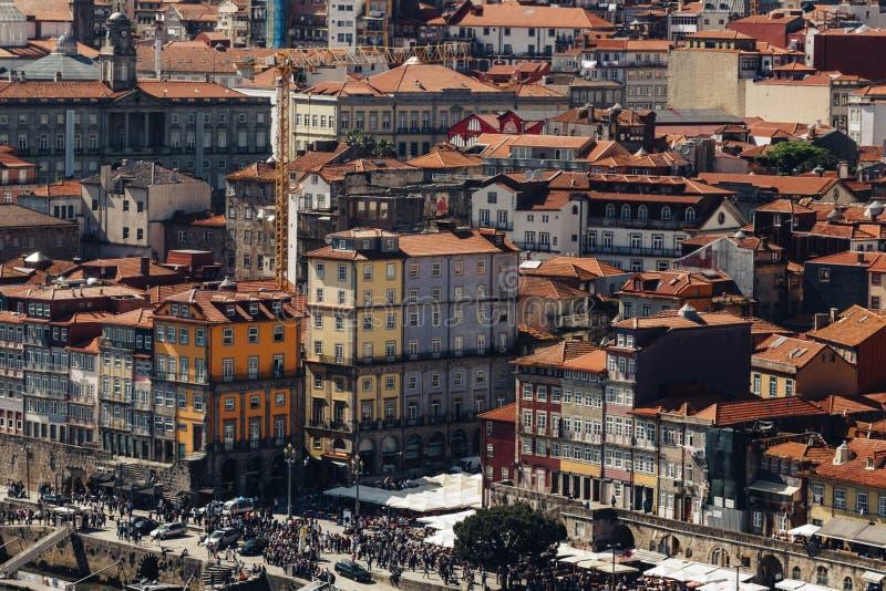 Vue scénique de vieilles ville de Porto et rivière de Douro photos stock