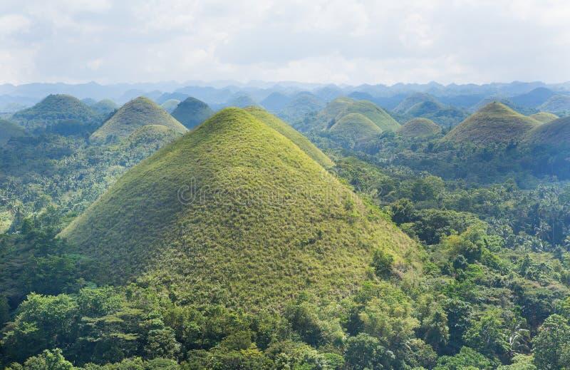 Vue scénique des côtes de chocolat sur l'île de Bohol image stock