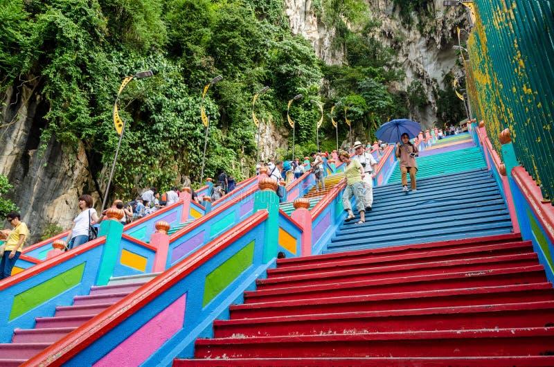 Vue scénique des cavernes de Batu dans Gombak, Malaisie photographie stock