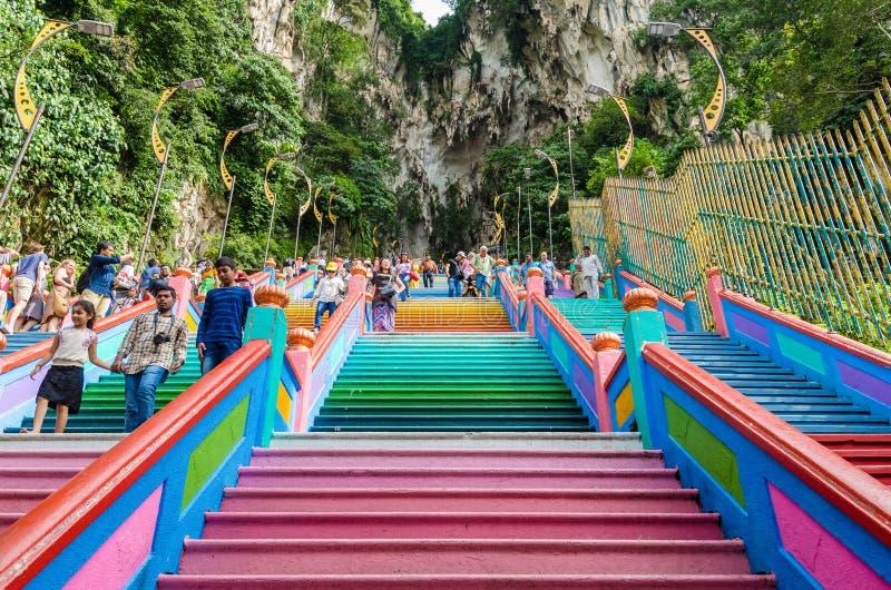 Vue scénique des cavernes de Batu dans Gombak, Malaisie image libre de droits
