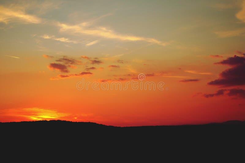 Vue scénique du ciel photo stock