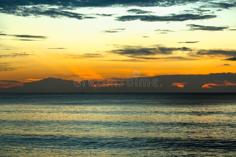 Vue scénique du coucher du soleil image libre de droits